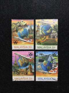 1995 50 Years of IATA (International Air Transport Association)4 Values Used Set