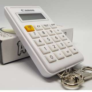 LIMITED EDITION COLLECTIBLE CANON ANGRY BIRD KEY CHAIN MINI CALCULATOR