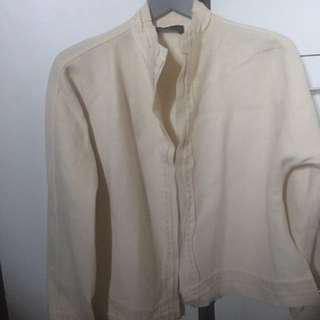99% new wool jacket l, never wore, very nice material.