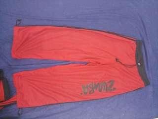 Celana zumba merah wanita