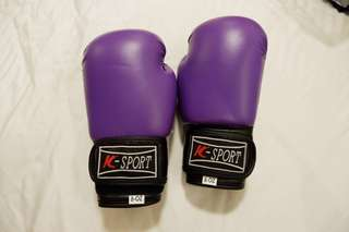 K-Sport Purple Boxing Gloves (8oz.)