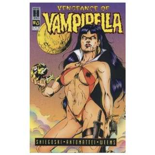 5x VENGEANCE OF VAMPIRELLA LOT (HARRIS COMICS)