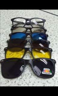 Magnetic Clip On Sunglass Lens & Eyeglass