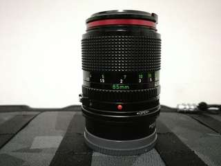 Canon FD Lens 85mm f1. 8 for Sony