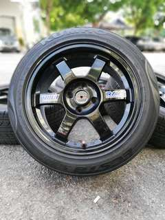 Te37 16 inch sports rim jazz tyre 70%. *merciks hawau*