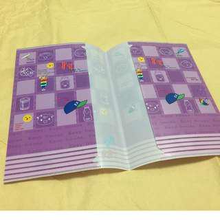 贈送)) 紫色童趣筆記本外套