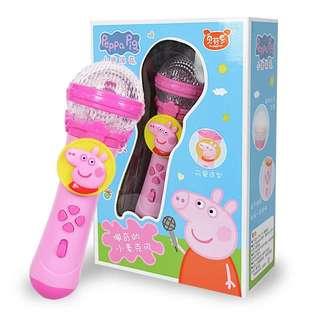 🚚 [二手]Peppa pig 粉紅豬小妹 佩佩豬 嬰幼兒童麥克風話筒 寶寶卡拉OK 寶寶無線唱歌玩具