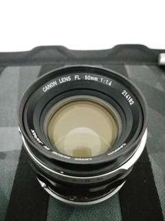 Canon FL / FD Lens 50mm f1.4 for Sony