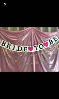 Full set $2.50: Bride to be bunting