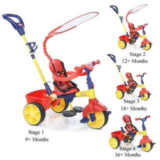 Little tikes 4-in-1 Trike - Primary bike tricycle