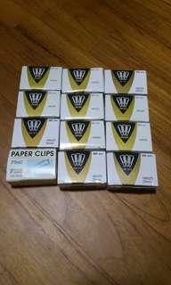 Brand new paper clip for sale ( per box 100pcs)