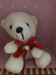 Small Teddy with key chain 4x4 inc