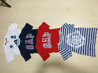 BabyGap+Adidas T-shirts Boys 4-5 yrs old