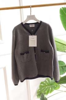Chanel sweaters in navy or grey