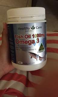 Share 100 kapsul Healthy care fish oil omega 3, 1000mg