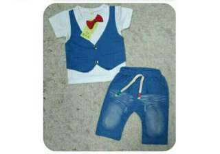 #July100 Set Baby Boy With Bow