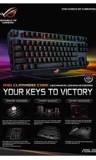 Brand new Asus RGB gaming keyboard