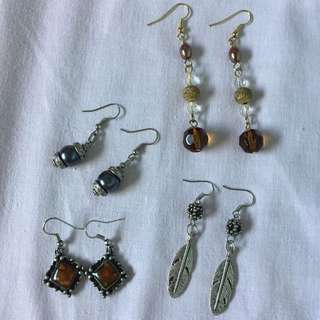 All 4 earrings