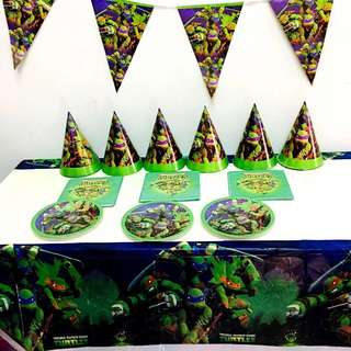 TMNT Teenage Mutant Ninja Turtle Party supplies - TMNT Tablecloth/ table cover / party deco