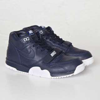 NIKE X FRAGMENT DESIGN AIR TRAINER 1 MID SP OBSIDIAN US SIZE 12
