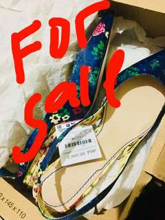 Zara slingback mid heels shoes