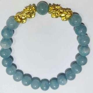 24k Gold lucky charm bracelet