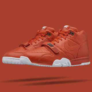 NIKE X FRAGMENT DESIGN AIR TRAINER 1 MID SP RUST US SIZE 12