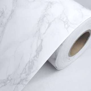White marble adhesive contact paper