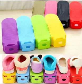 Shoe slot organiser double your space