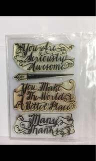 Stamp set A - mama elephant, avery elle