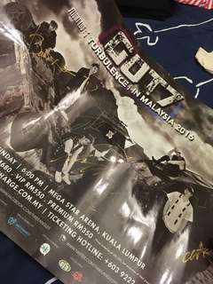 GOT7 Autographed Flight Log Turbulence Poster
