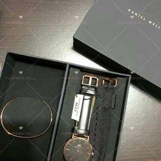 100% Original Daniel Wellington Classic Black Couple Watch
