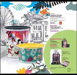 Singapore heritage pop art collection tupperware