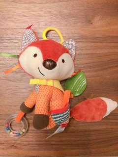 🚚 Skiphop 圍巾小夥伴-狐狸 布偶固齒器