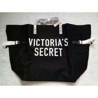 Victoria's Secret Large Black & White Tote Bag