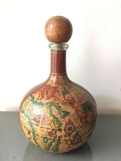 map bottle decor