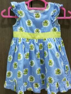 Blue dress with Teddy Bear Print