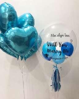 Balloon foil & love proposal