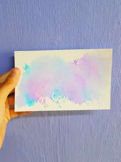 Personalised Watercolour Card [No Meetups]
