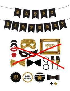 🚚 Great gatsby theme party decor birthdays banners