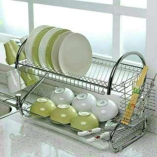 🚚 雙層瀝水碗盤架