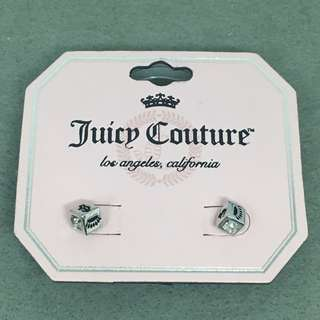 Juicy Couture Sample Earrings 銀色閃石正方形耳環