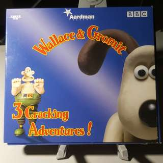 VCD - WALLACE AND GROMIT: 3 CRACKING ADVENTURES! animation comedy