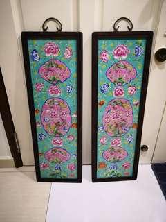 Peranakan pair of wall tiles