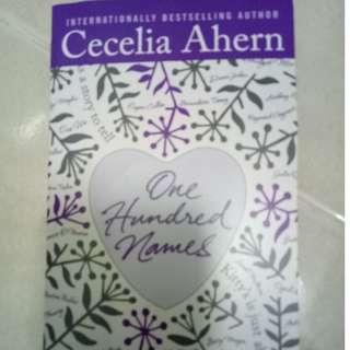 Cecelia Ahern: One Hundred Names