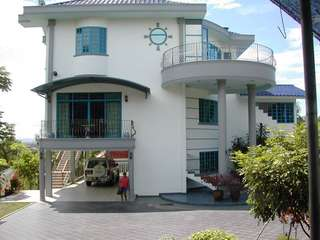 3-storey Bungalow House on hill top. Full Mt Kinabalu View in Sabah, Malaysia.