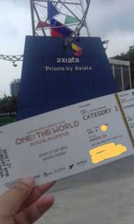 CAT1 Wanna One Concert Ticket in Malaysia