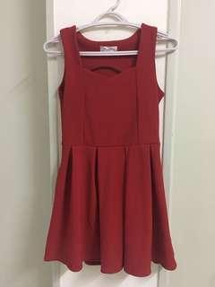 Red korea style dress