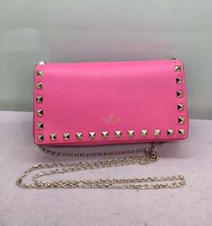 Valentino Rockstud Small Size Bag 桃紅色 Real and New