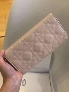Dior Patent Long Wallet